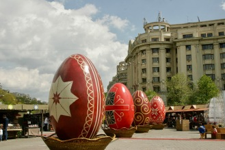 Osterdekoration in Bukarest