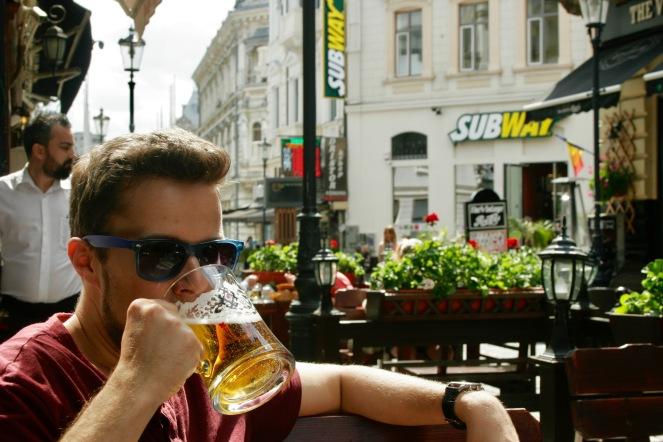Bierchen in der Altstadt Lipscani