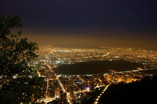 Lichtermeer vom Cerro San Cristóbal
