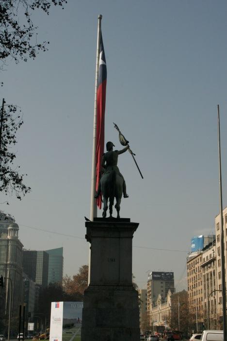 Flagge von Chile in Santiago
