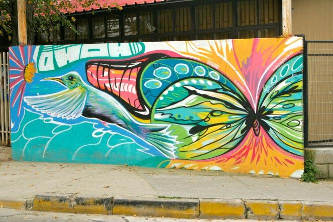 Schöne Street Art in Valparaiso