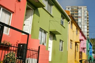 Bunte Fassaden in Valparaiso, Chile