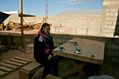 """""""Wohnzimmer"""" meines Gastgebers in San Pedro de Atacama"""