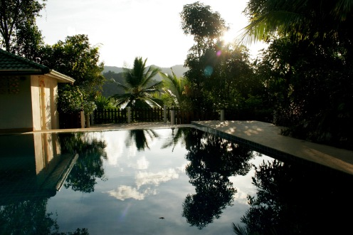 Koh Chang: privater Pool am Morgen