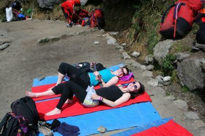 Inka Trail: Verschnaufpause nach langem Abstieg
