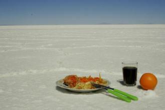 Salar de Uyuni: Mittagessen