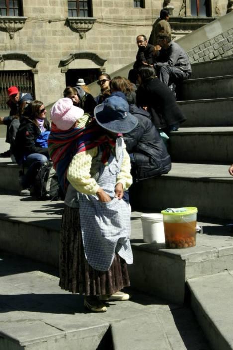 Verkäuferinnen im Zentrum La Paz'