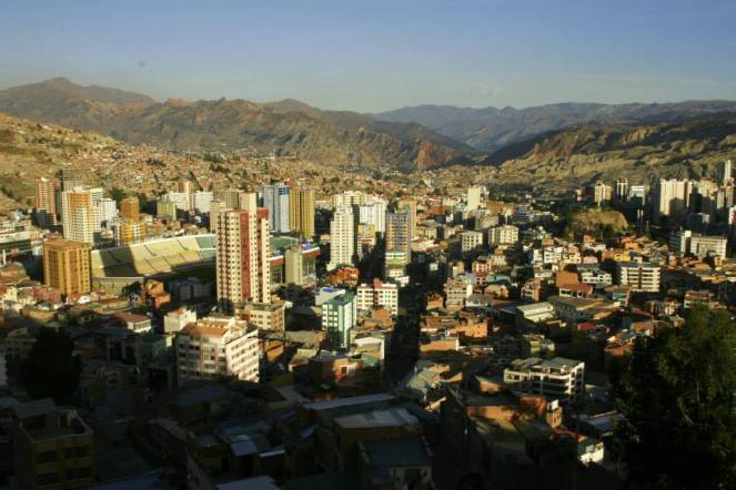 Ausblick vom Mirador Killi Killi in La Paz