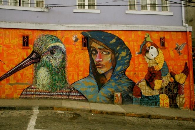 Street Art in Valparaisos unzähligen Gassen