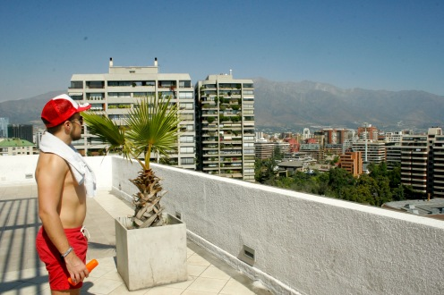 Über den Dächern Santiago de Chiles