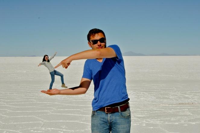 Salar de Uyuni: Aufgespießt