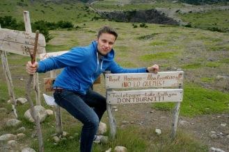 Start der Wanderung im Torres del Paine