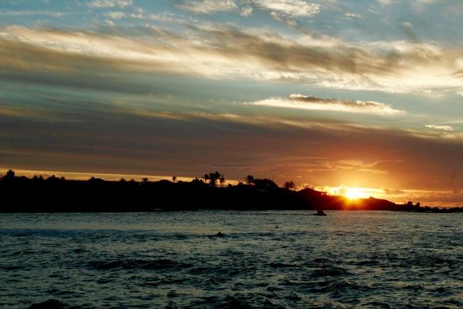 Sonnenuntergang auf der Osterinsel