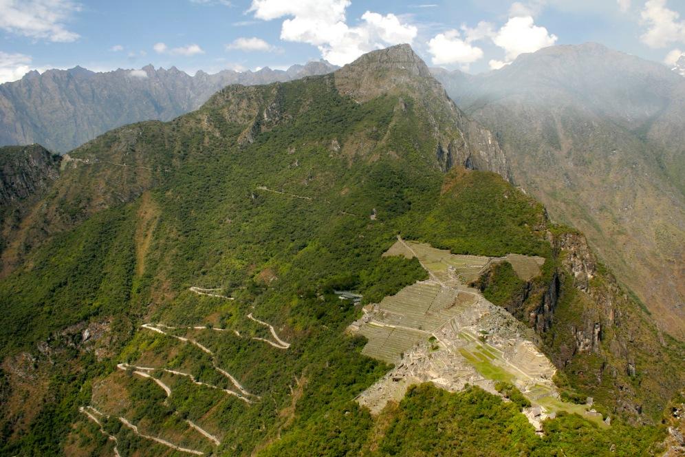 Inka Trail: Blick auf Machu Picchu vom Huayna Picchu