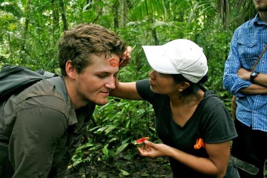 Natürliche Bemalungen im Dschungel Ecuadors