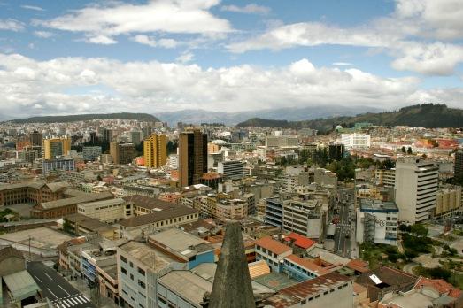 Ausblick von der Kathedrale in Quito