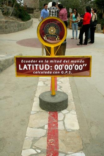 Mitad del mundo in Ecuador