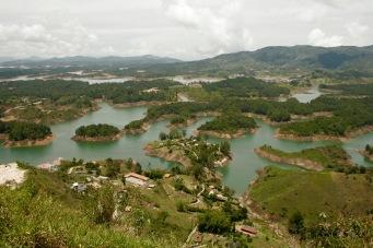 Wunderschöne Landschaft rund um den El Peñol
