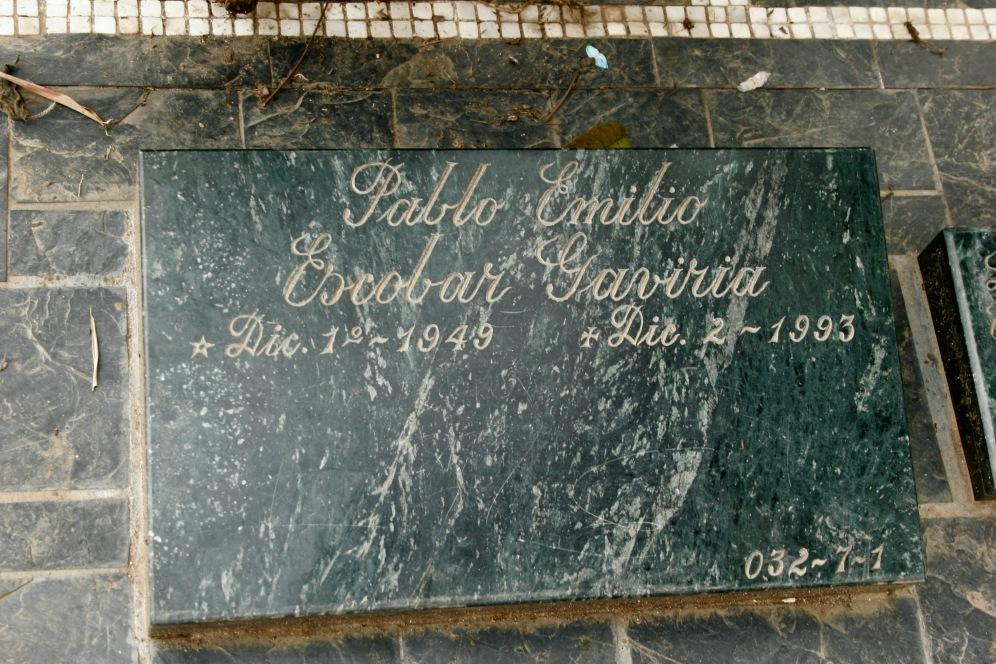 Das Grab Pablo Escobars in Medellin