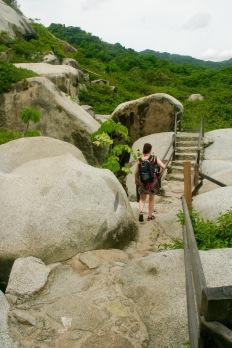 Tayrona Nationalpark: harte Wanderung