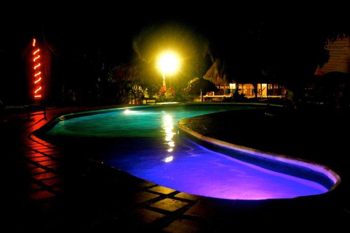 Pool im Dreamer Hostel in Palomino