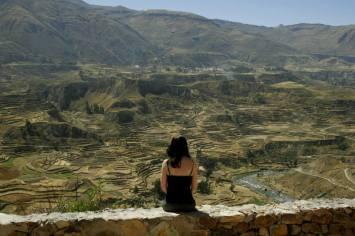 Gigantische Landwirtschaftsterrassen in Peru