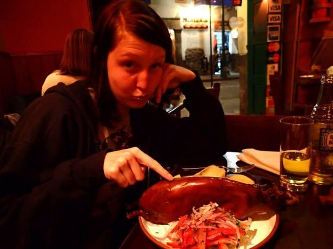 Meerschweinchen essen in Cusco