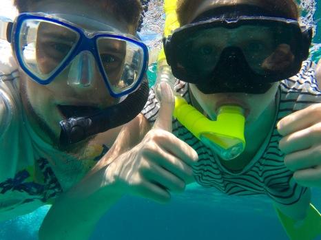 Unterwasserwelt in Belize: Daumen hoch