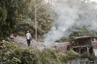 Einheimische kleine Siedlungen beim Lago Suchitlan