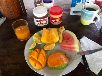 Früchte zum Frühstück sind das Beste