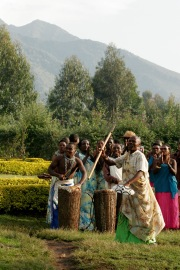 Musizieren im Virunga-Gebirge