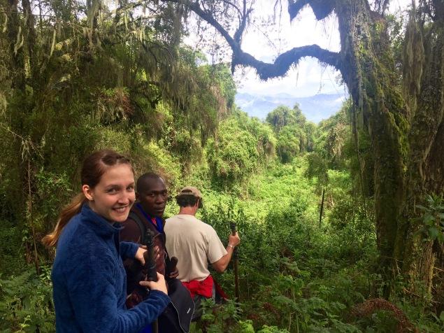 Wanderung durch den Dschungel Ruandas