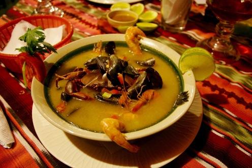 Typisch: Sopa de Mariscos