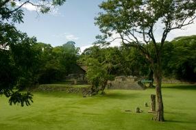 Alleine ohne weitere Besucher bei den Copán Ruinen