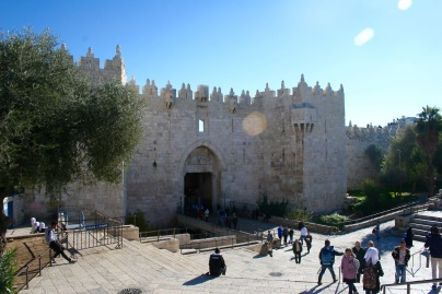 Stadtmauer und erste Stunden in Jerusalem