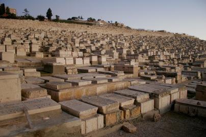 Riesiger Friedhof auf dem Ölberg