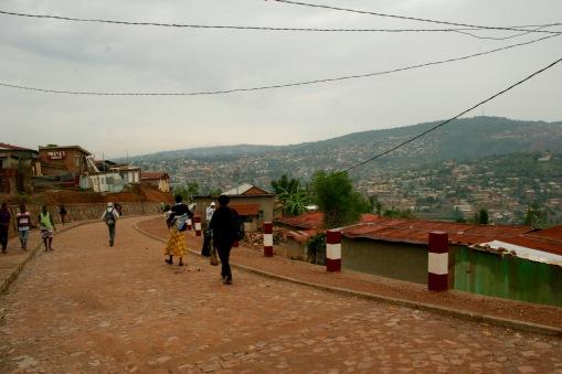 Lehmstraßen in Kigali