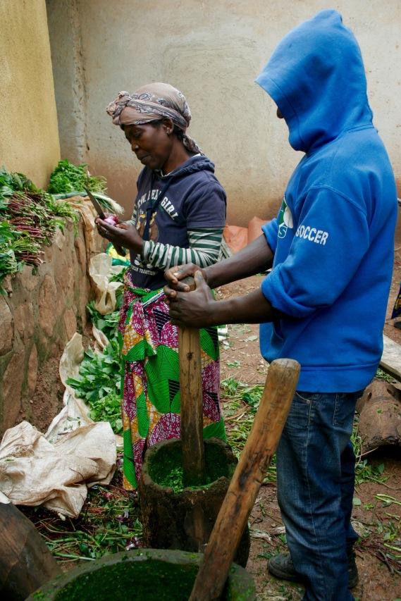 Essenszubereitung auf Kigali-Art