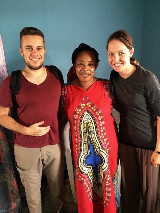 Unsere nette Gastgeberin in Kigali