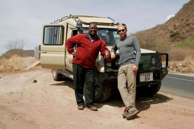 Am Lake Manyara mit unserem Guide Julius