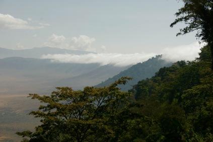 Ngorongoro Krater vom oberen Rand