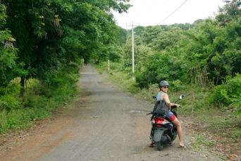 Rollerfahren auf Ometepe