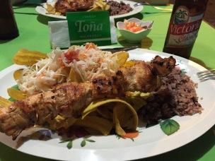 Typisch nicaraguanisches Abendessen