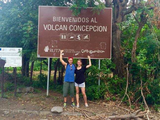 Vor der Besteigung des Concepcion Vulkans