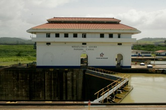 Schleuse Miraflores im Panamakanal