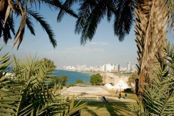 Blick auf Tel Aviv von Jaffa
