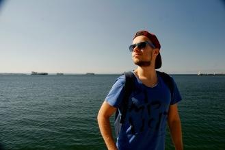 Alex genießt die Sonne in Thessaloniki