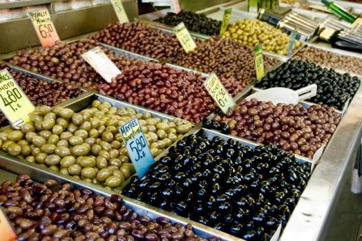 Oliven beim Kapani Markt...was sonst!?