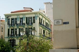 Architektur in der Altstadt Thessalonikis