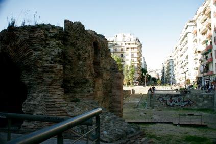 Ruinen durchziehen Thessaloniki